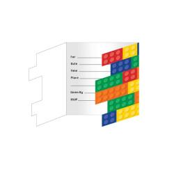 Lego Inbjudningskort