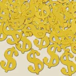 Konfetti Dollartecken