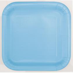 Kvadratisk Assiett Ljusblå