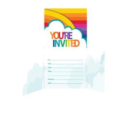 Inbjudningskort Rainbow