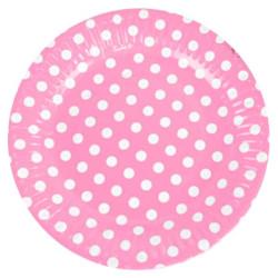 Rosa Dots Tallrik