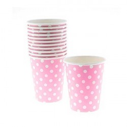 Pappersmuggar Rosa Dots 20-pack