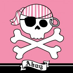 Servetter Rosa Pirat