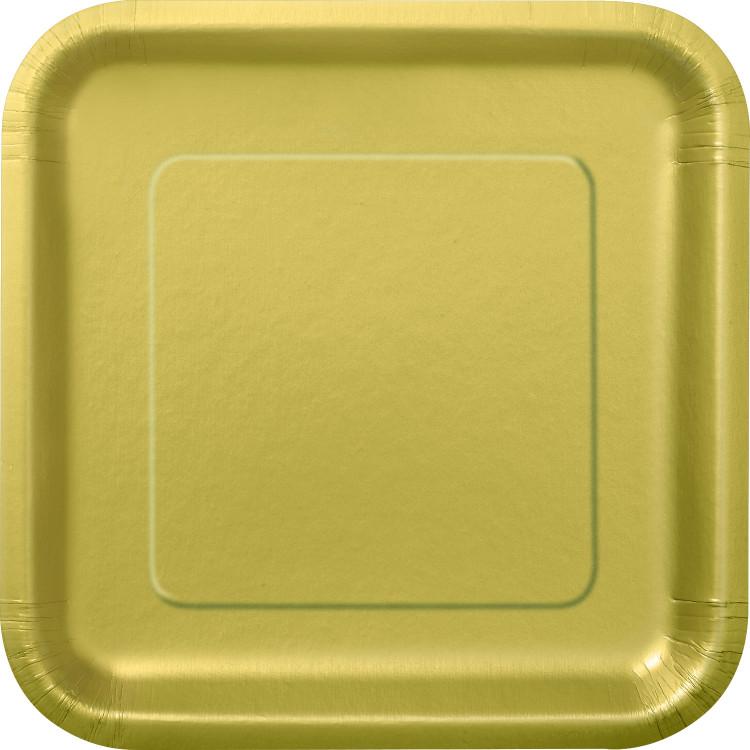 Kvadratisk Tallrik Guld