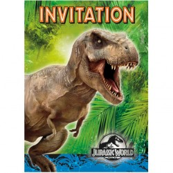 Jurassic World Inbjudningskort