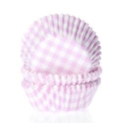 Muffinsformar Ljusrosa Rutig