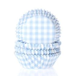 Muffinsform Ljusblå Rutig