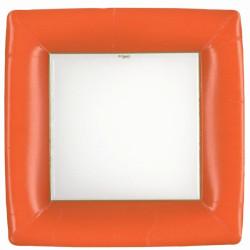 Kvadratisk Tallrik Orange Lyx