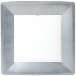 Kvadratisk Tallrik Silver Lyx