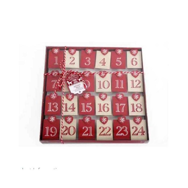 Paketkalenders Klämmor 1-24