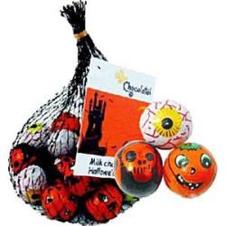 Halloweenchoklad i nätpåse