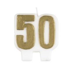 Tårtljus 50 år Guld