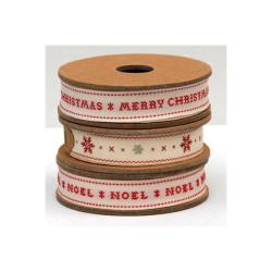 """Bomullsband """"Merry Christmas"""""""