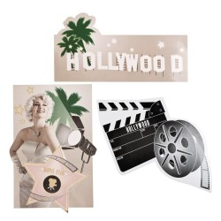 Hollywooddekorationer 3 st