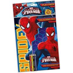 Spindelmannen Målarbok med pennor