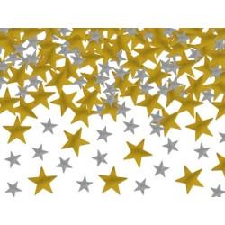 Konfetti Star Svart guld silver