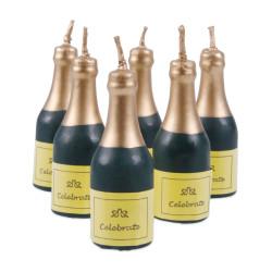 Ljus Champagneflaskor