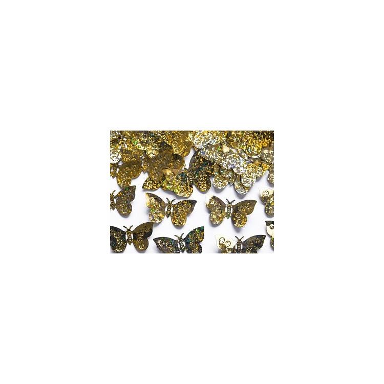 Konfetti Guldfjärilar