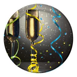 Assiett Nyår Champagne