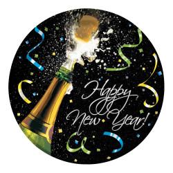 Tallrik Nyår Champagne