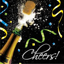 Servetter Nyår Champagne