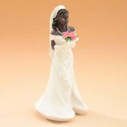 Tårtdekoration Afro American Bride