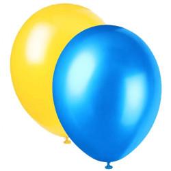 Ballonger Metallic Gul&Blå mix