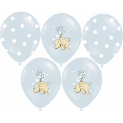 Ballonger Elefant Ljusblå