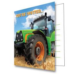 Inbjudningskort Traktor