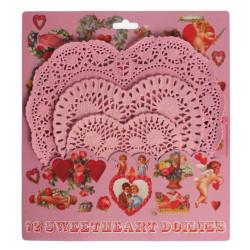 Tårtpapper Rosa Hjärta 72 pack