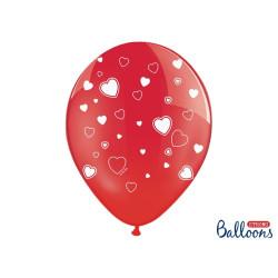 Ballonger Röd med hjärtan