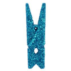Klädnypor Turkosglitter 3,5 cm