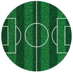 Tårtbild Sockerpasta Fotboll