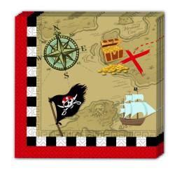 Servetter Skattkarta Pirat