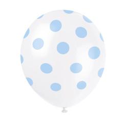 Ballonger Ljusblå Prickar