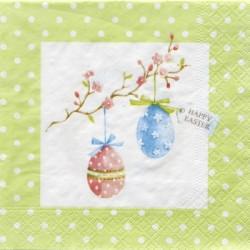 Servetter Happy Easter Grön