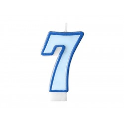 Tårtljus Ljusblå 7