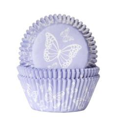 Muffinsformar Lila med fjäril