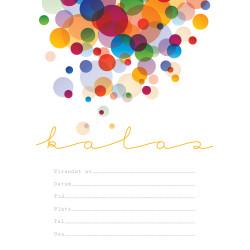 Inbjudningskort Colorful Bubbles