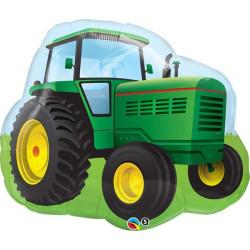 Folieballong Grön Traktor