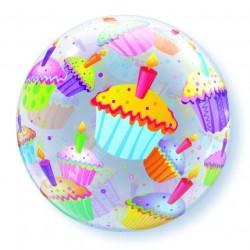 Bubble Folieballong Cupcakes