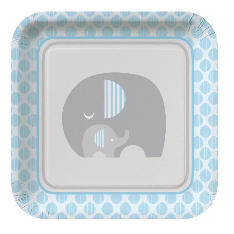 Tallrik Liten Elefant Ljusblå