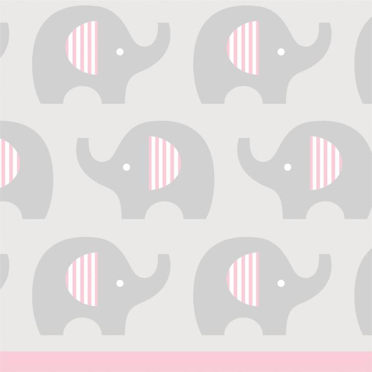 Kaffeservett Liten Elefant Rosa