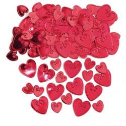 Loving Hearts Konfetti Röd