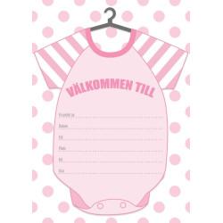 Inbjudningskort Baby