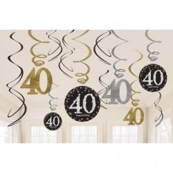 Swirl Dekoration 40 år