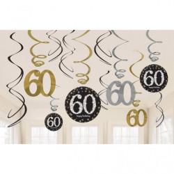 Swirl Dekoration 60 år