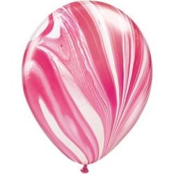 Ballong Marmorerad Röd