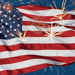 Kaffeservetter USA Fireworks