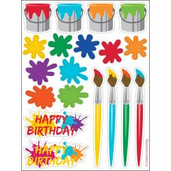 Art Party Klistermärken 4-pack